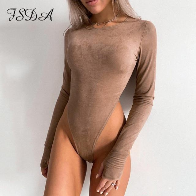 Casual Bodysuits with Long Sleeves
