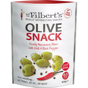 Green Olives Chilli & Black Pepper (Pitted)