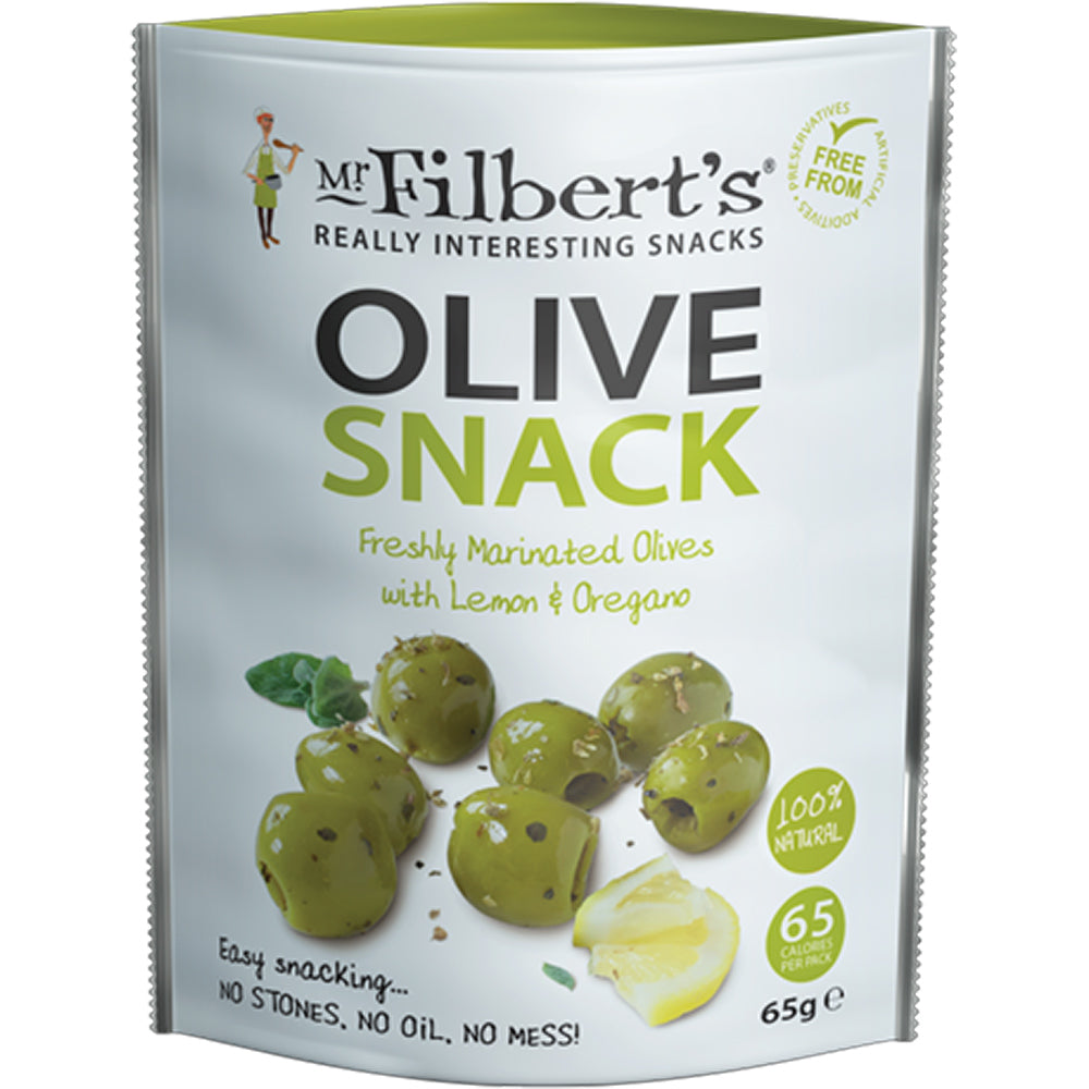 Green Olives Lemon & Oregano (Pitted)