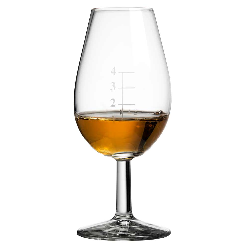 Distillery Whisky Taster Glass with Gauge Lines and Watch Glass Lid 14cl