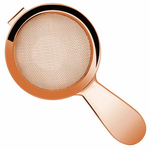 Biloxi Copper Short Handled Fine Mesh Cocktail Strainer 15cm
