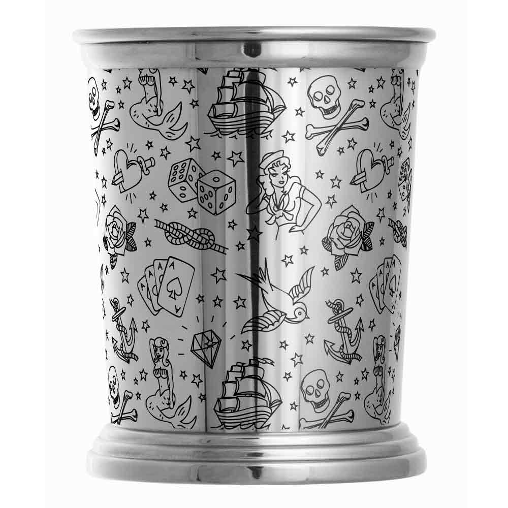 Tattoo Stainless Steel Julep Cup 40cl