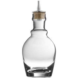 Georgian Glass & Steel Dash Bottle 22cl