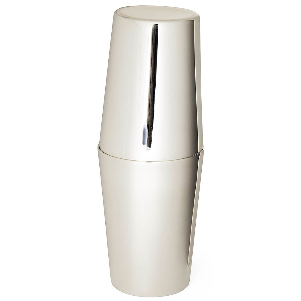 Classico Silver Plated Large Tin-on-Tin Cocktail Shaker 1.5 Pint