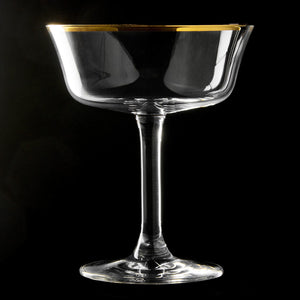 Gold Rim Fizzio Cocktail Glass Coupe 20cl