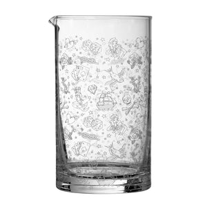 Tattoo Glass Cocktail Mixing Jug 80cl