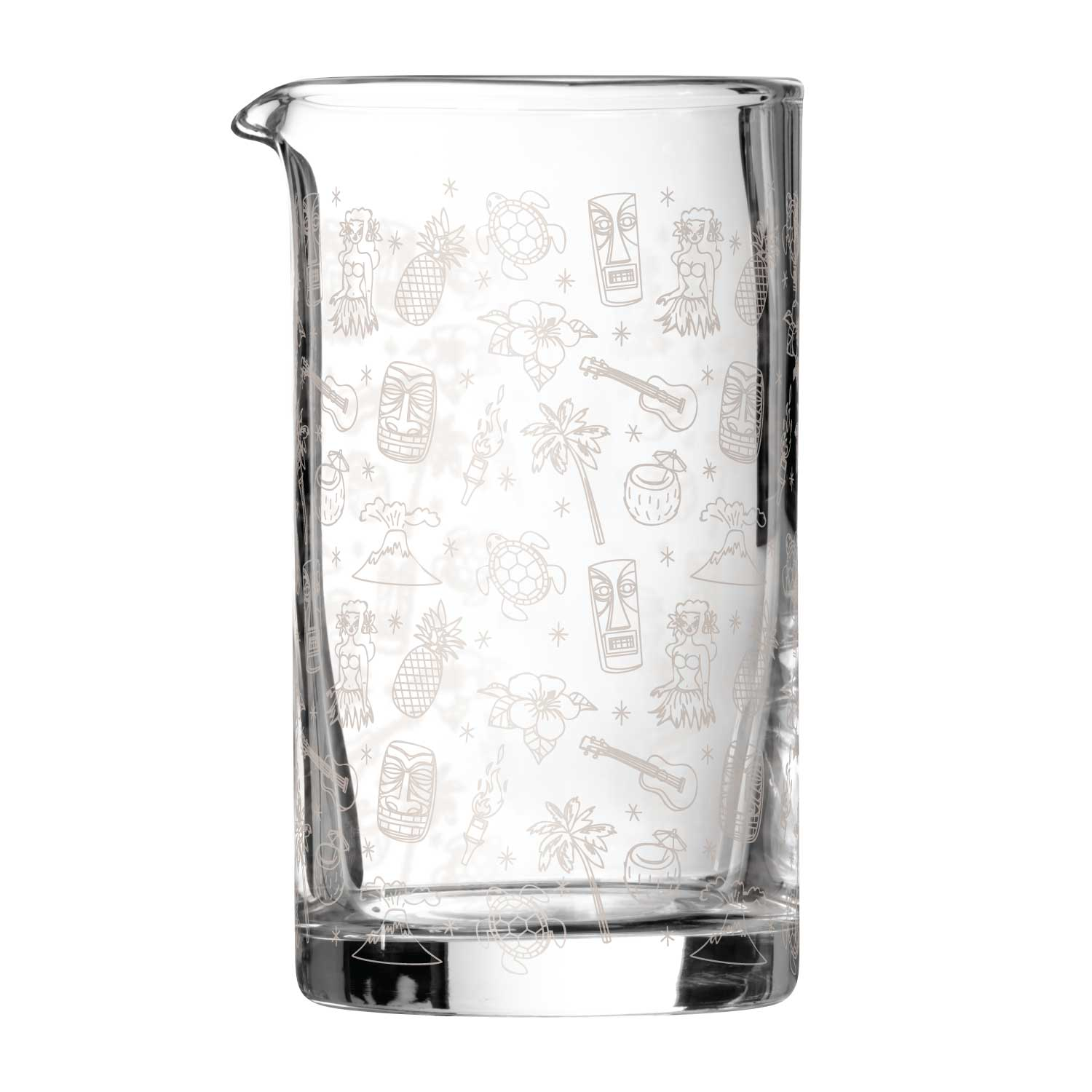 Tiki Cocktail Mixing Jug Glass 80cl