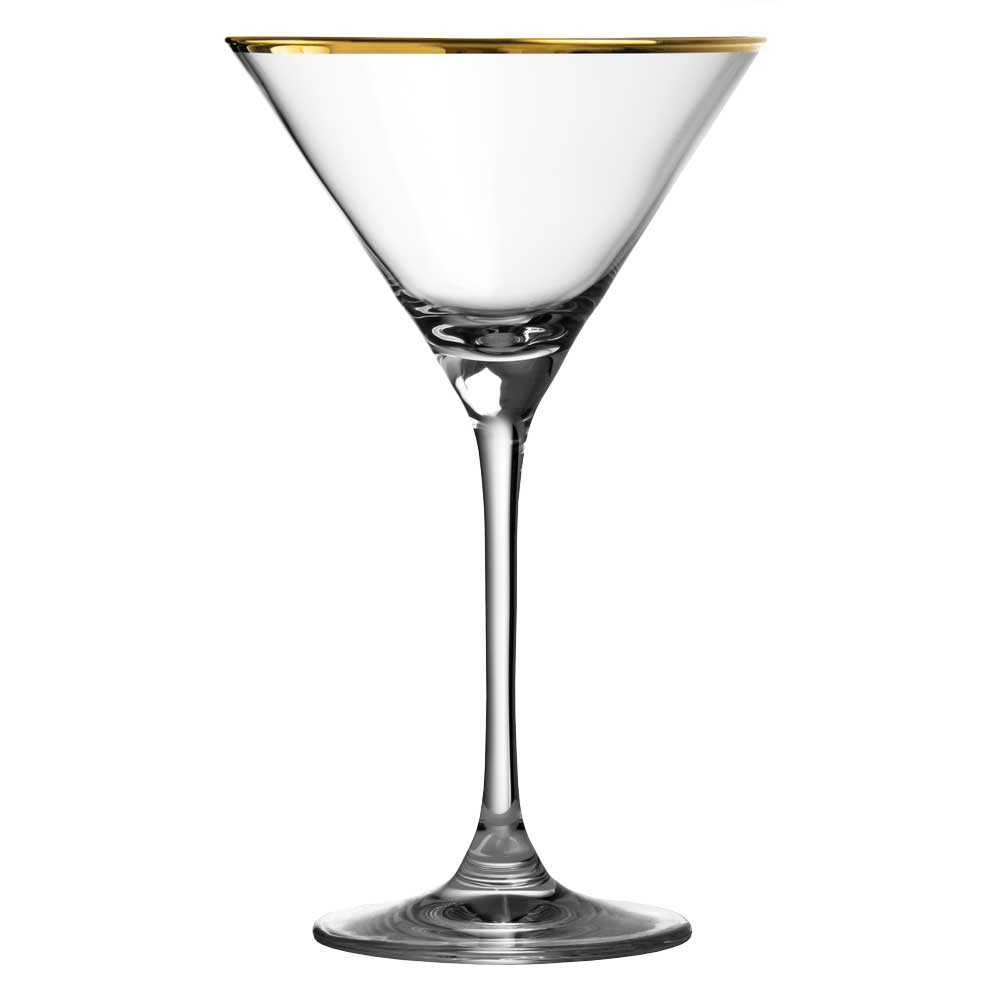 Verdot Gold Rim Martini Glass 21cl