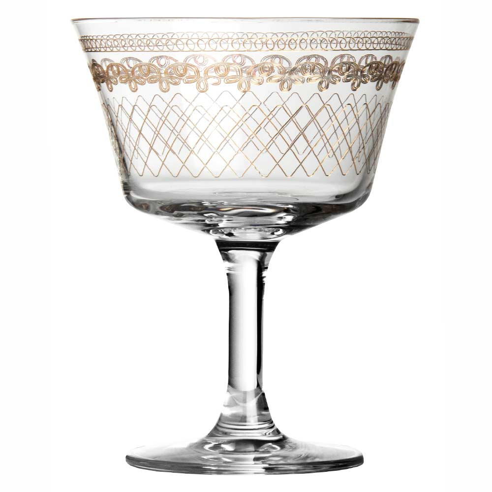 1910 Fizz Gold Cocktail Glass Coupe 20cl