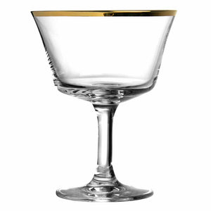 Gold Rim Fizz Cocktail Glass Coupe 20cl