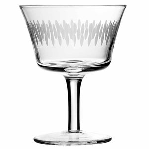 Crystal Retro Fizz Engraved Cocktail Glass 20cl