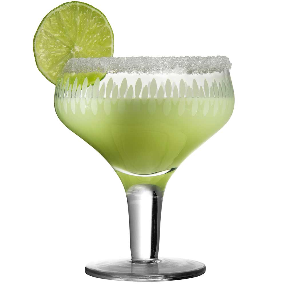 Retro Engraved Margarita Glass 28cl