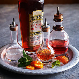Handmade Crystal Bitters Bottle Vertical Cut 9cl