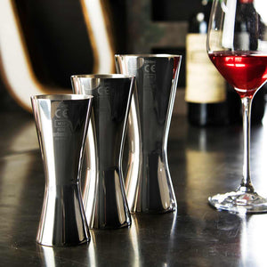 Aero® 18/8 Stainless Steel Set of 3 Wine Measures 125ml, 175ml and 250ml