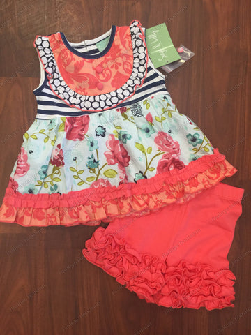 Sage & Lilly Ruffle top with shorties