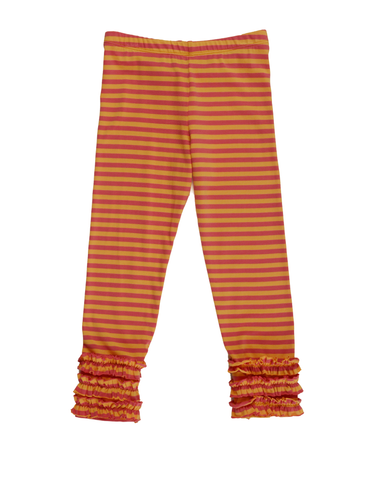 "Persnickety Clothing ""pocket full of posies"" stripe  gracie leggings"