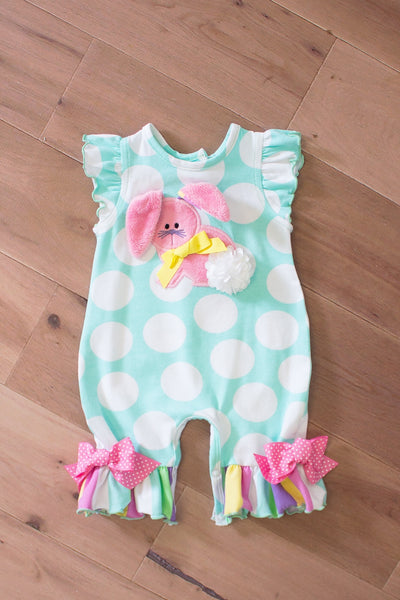 "Molly & Millie spring 2017 ""Some Bunny Loves You"" romper"