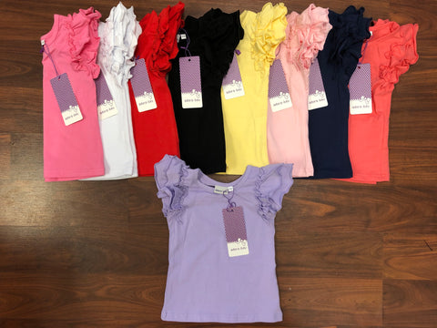 Adora-bay Flutter shirts -IN STOCK 3m to 4t