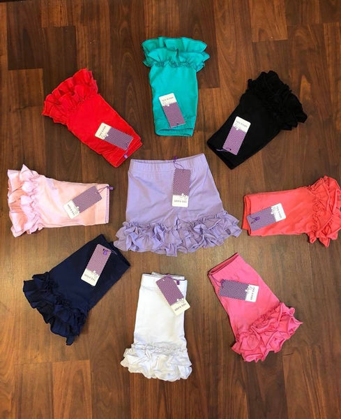 Adora-bay double ruffle shorties -IN STOCK- size 6 to size 14 listing
