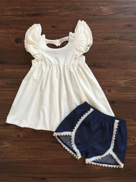 Adora-bay Denim Short Set