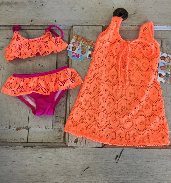 Coral & reef swimsuit and coverup