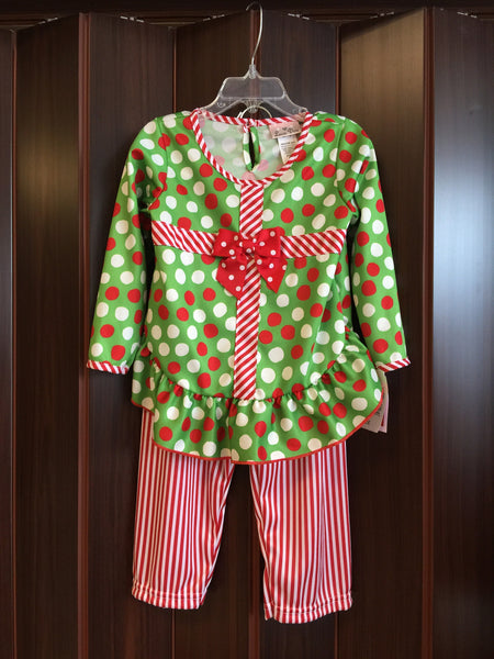 Laura dare Christmas present pjs