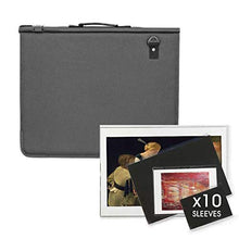 Load image into Gallery viewer, Artway Premium Presentation Portfolio with 10 Sleeves - Waterproof Padded Cover & Shoulder Strap - A3