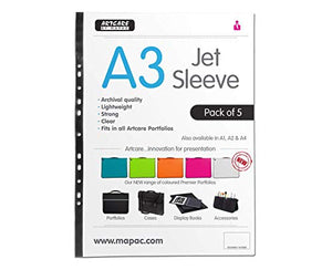 Artcare A3 Jet Sleeve (PK 5), Synthetic Material, 46x0.1x35.5 cm