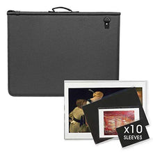 Load image into Gallery viewer, Artway Premium Presentation Portfolio with 10 Sleeves - Waterproof Padded Cover & Shoulder Strap - A2