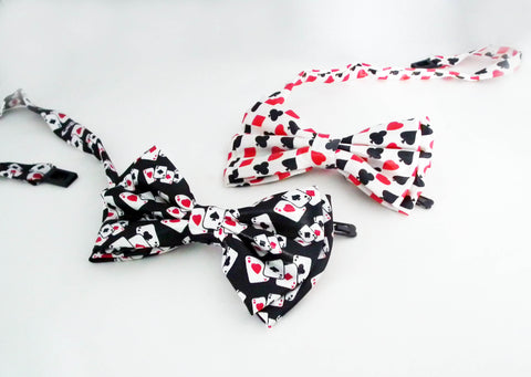 Poker Casino Fun Bow Ties