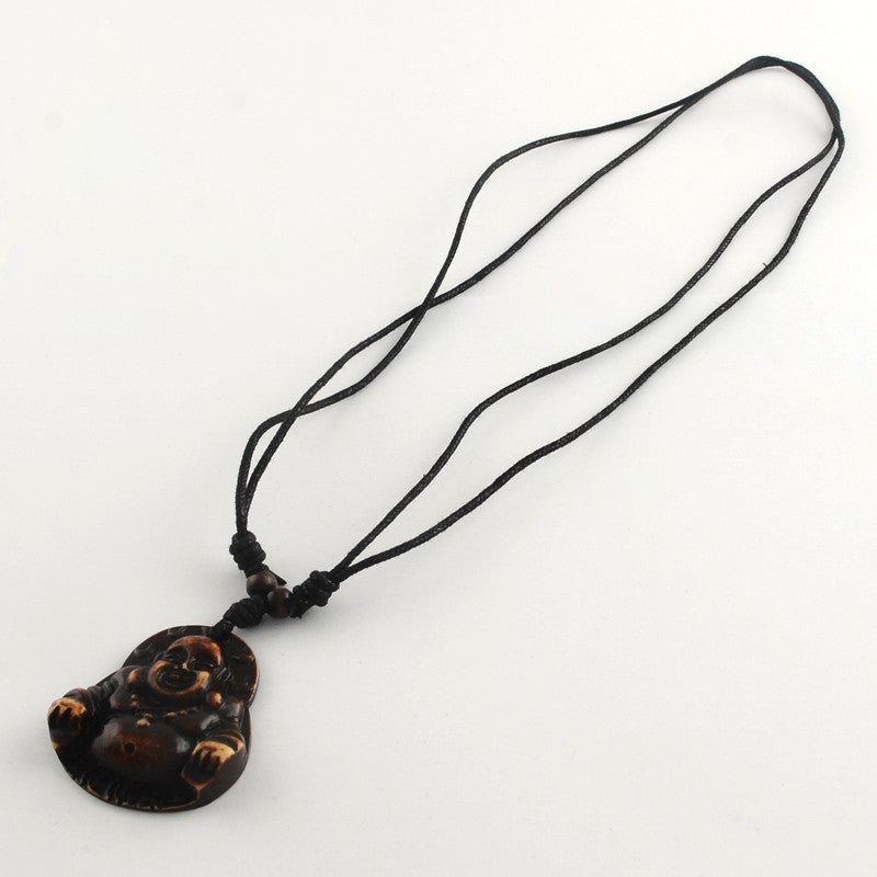 REF99P - Collier Ajustable Pendentif Buddha Adjustable Necklace - No Mercy Making