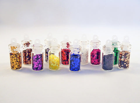 ALD1 - Pendentifs Fioles et Strass / Glitter Bottle Pendants - No Mercy Making