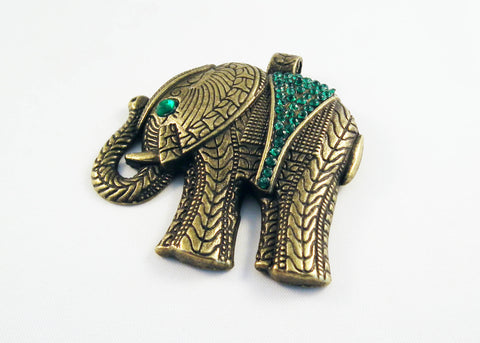 ALD7V - Breloque Éléphant Strass Elephant Pendant - No Mercy Making