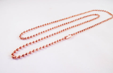 ALF2 - Collier Chaîne à Bille Or Rose / Ball Chain Rose Gold Necklace - No Mercy Making