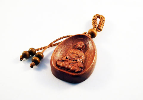 ALZ3 - Breloque Buddha en Bois / Wood Buddha Pendant - No Mercy Making