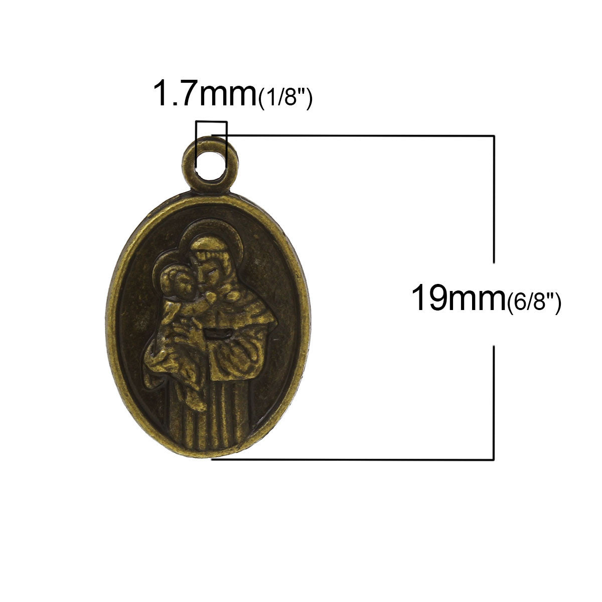 BCP10 - Breloques Médailles Religieux / Religious Medal Charms - No Mercy Making