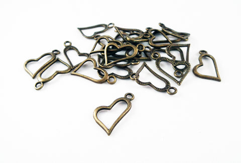 BCP88 - Breloques Coeur / Heart Charms - No Mercy Making