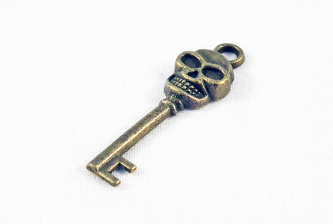 BP21 - Breloque Tête de Mort Clé / Key Lock Skull Pendant - No Mercy Making