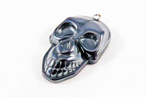 BP30 - Breloque Tête de Mort Hematite Skull Pendant - No Mercy Making