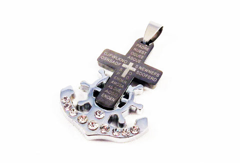 BP31 - Breloque Croix Ancre / Anchor Cross Pendant - No Mercy Making
