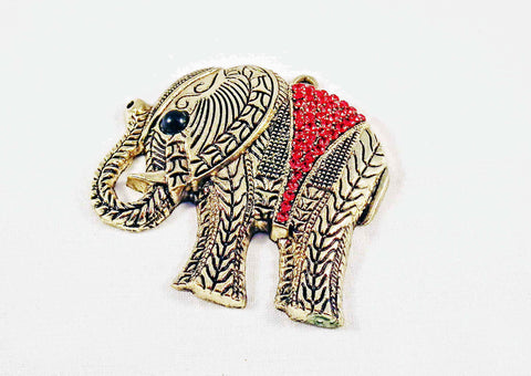 ALD7R - Breloque Éléphant Strass Elephant Pendant - No Mercy Making