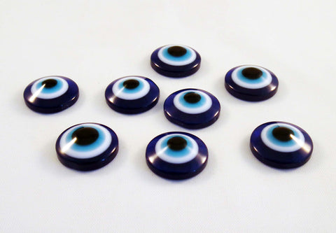 CBC08D - Demie-Perles Cabochons / Evil Eye Cameo Cabochons