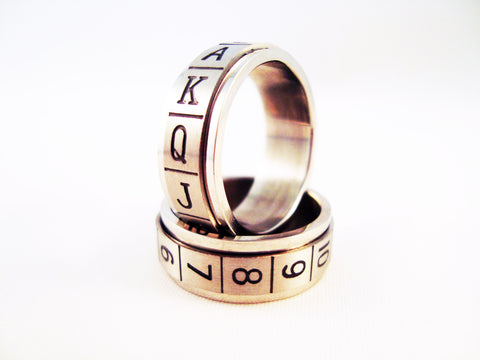 Ace of Heart Steel Ring