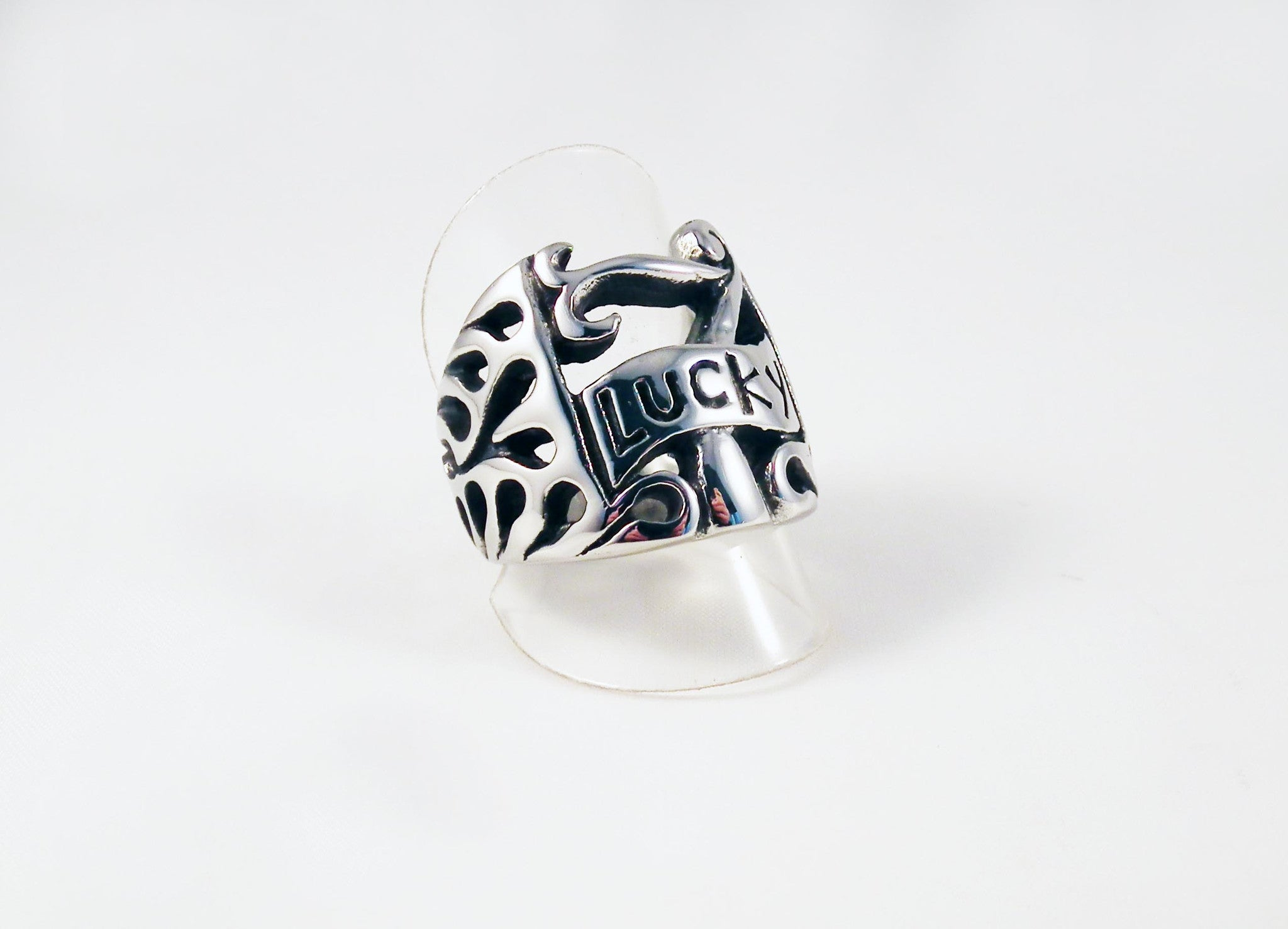 Bague en Acier Lucky 7 Steel Ring - No Mercy Making