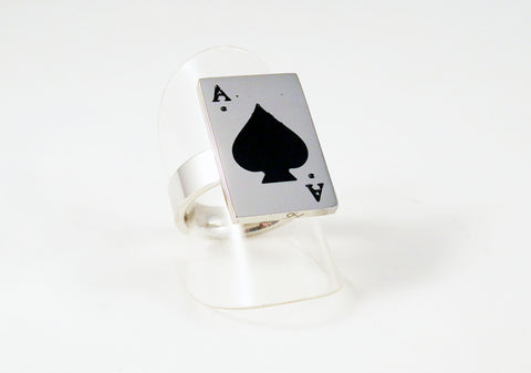Bague en Acier As de Pique / Ace of Spade Steel Ring - No Mercy Making