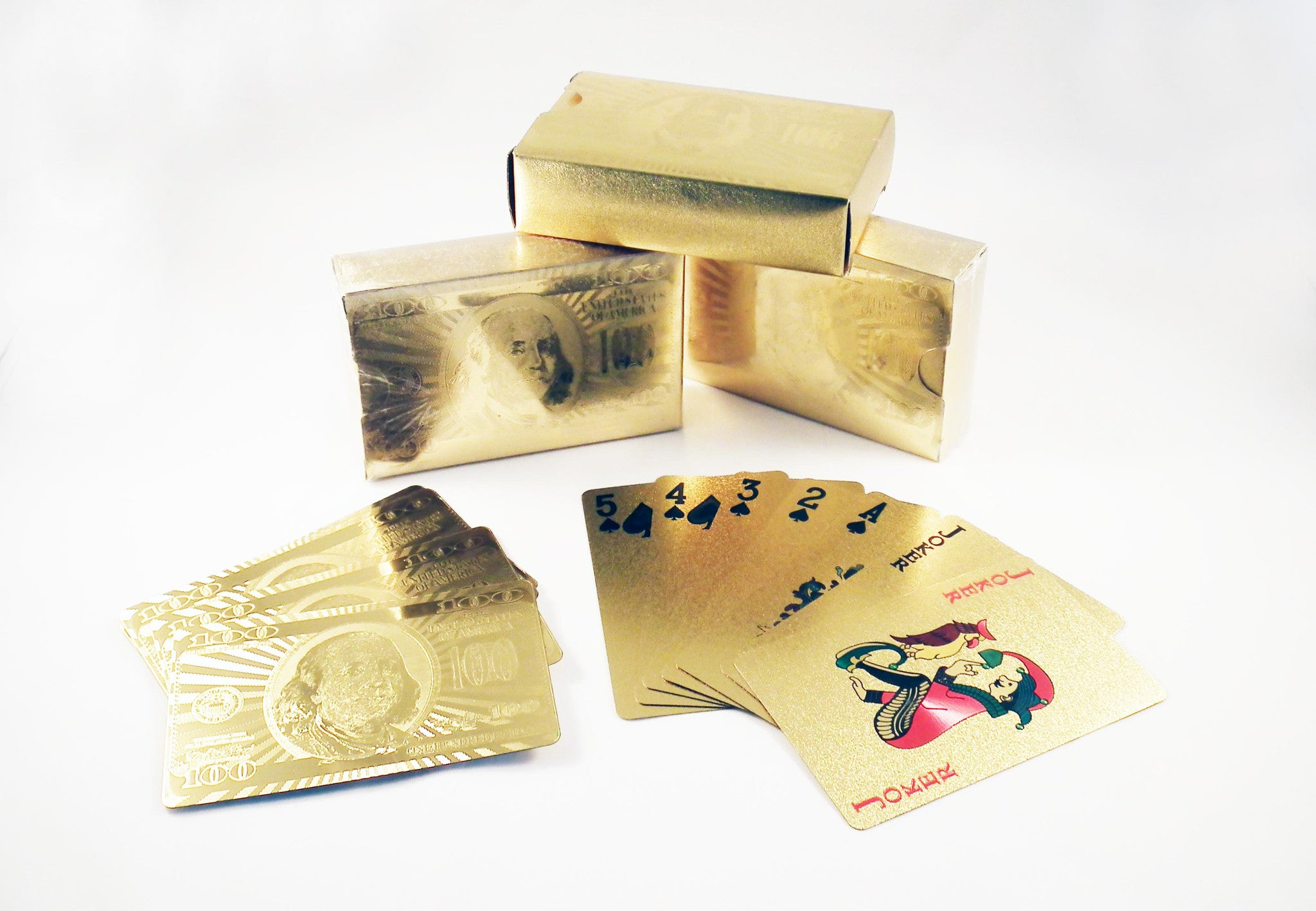 REF29G - Cartes à Jouer en Or / Gold Playing Cards - No Mercy Making