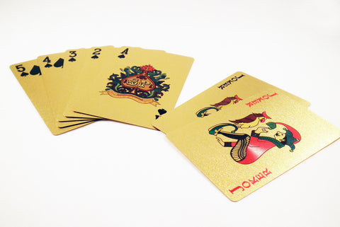 Cartes à Jouer en Or / Gold Playing Cards - No Mercy Making