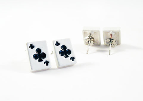 Boucle d'Oreilles Trèfle Poker Clubs Earrings - No Mercy Making