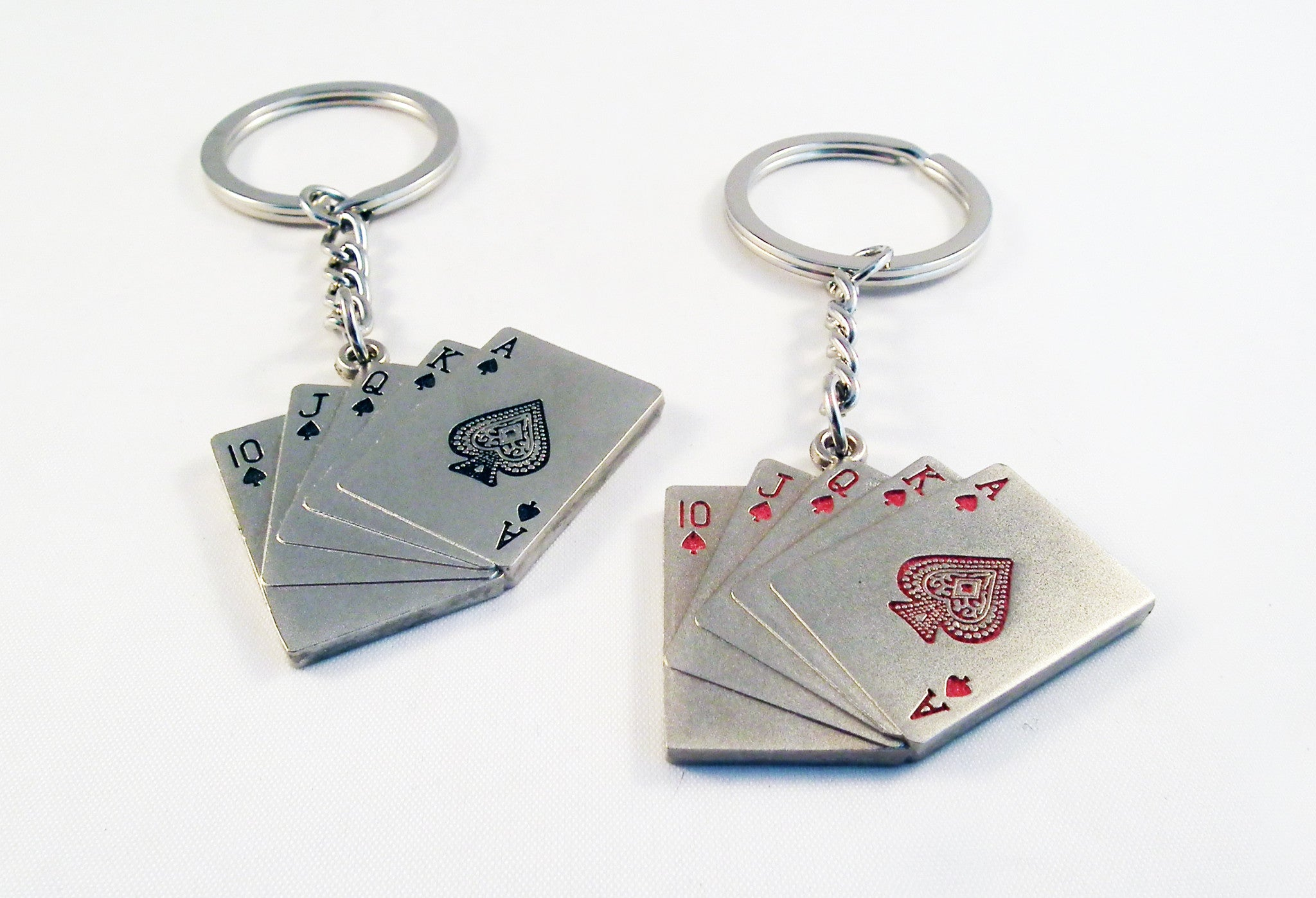 Porte-Clés en Acier Royale Flush / Royal Flush Steel Keychain - No Mercy Making