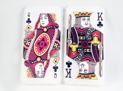 REF34 - Coques iphone Cartes Roi Dame / Queen and King iphone Cases - No Mercy Making